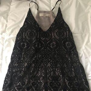 Loft sweetheart lace top